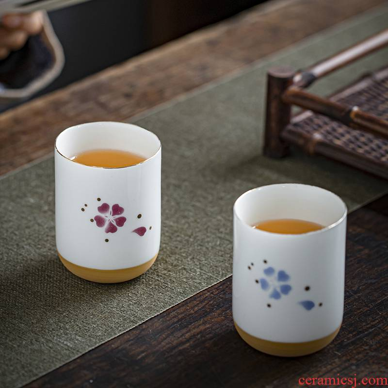 Japanese glass ceramic restoring ancient ways is the name plum flower cup large hotel restaurant tea cup home ultimately responds CPU master CPU