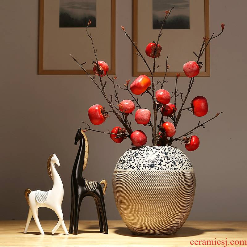 Classical jingdezhen ceramics vase decoration decoration living room TV cabinet table flower arranging flower implement creative furnishing articles