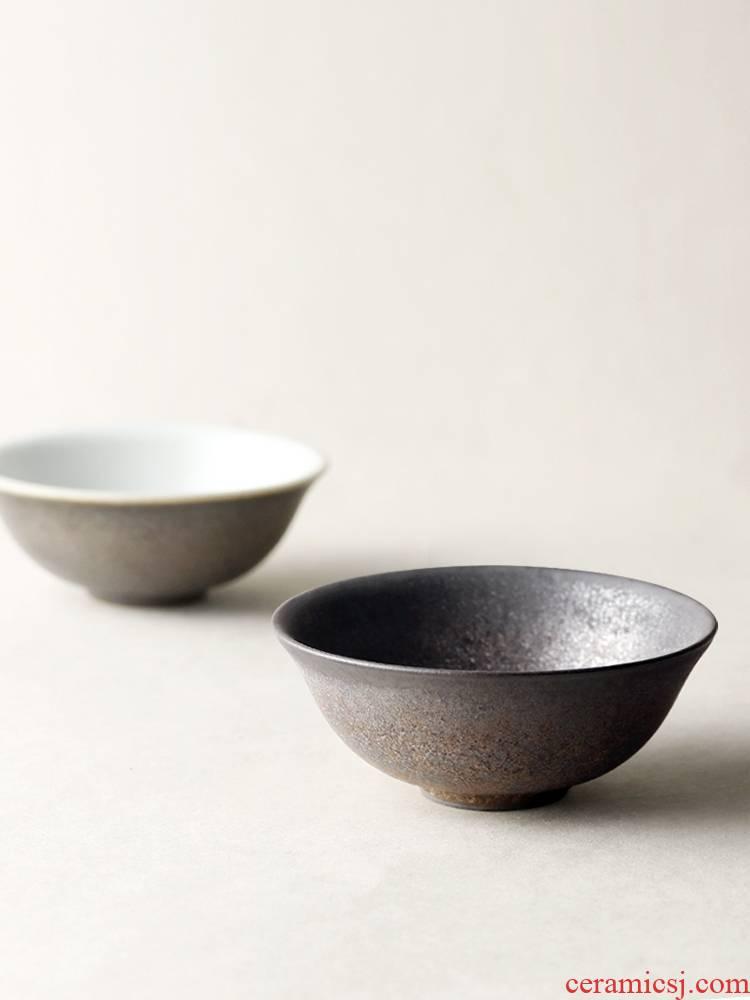 About Nine soil checking ceramic cups zen gold bowl tea Japanese household vintage kung fu tea sample tea cup