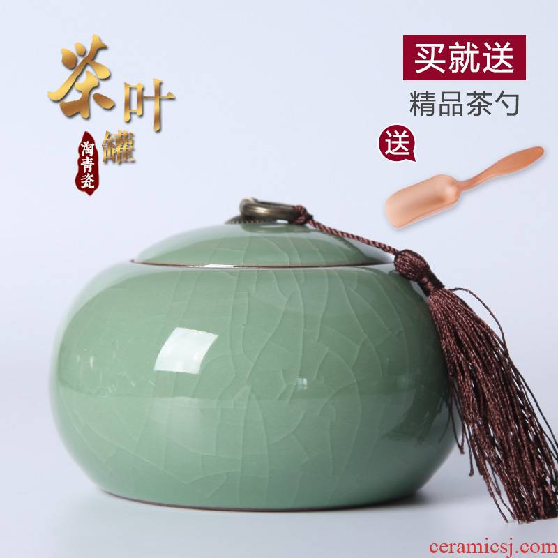 Caddy fixings tin brother seal your up up ceramic violet arenaceous Caddy fixings storage tanks tea set large powder as cans