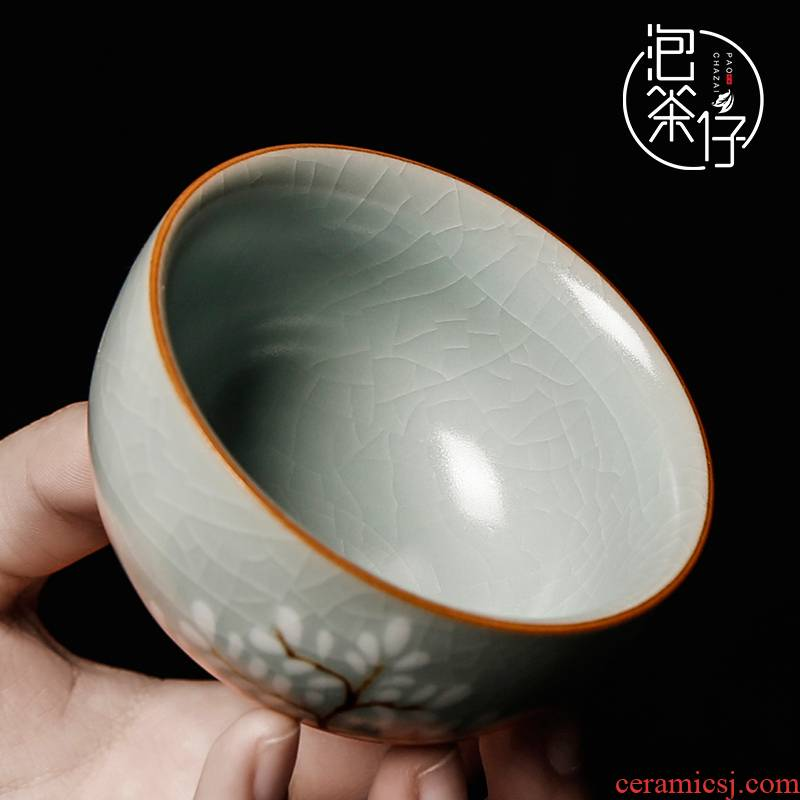 Your up kung fu master single small tea cup tea cup hand - made large - sized ceramic, checking the sample tea cup open tea set