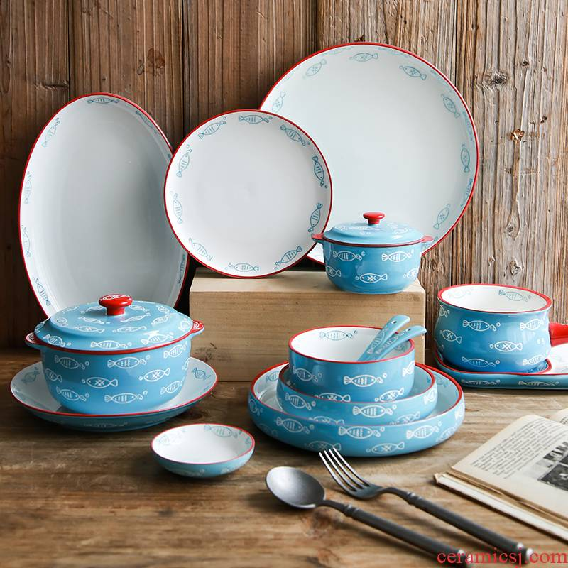 0 jobs the creative household rainbow such as bowl bowl grilled steak bowl dish fish Nordic ceramic tableware bowls plates