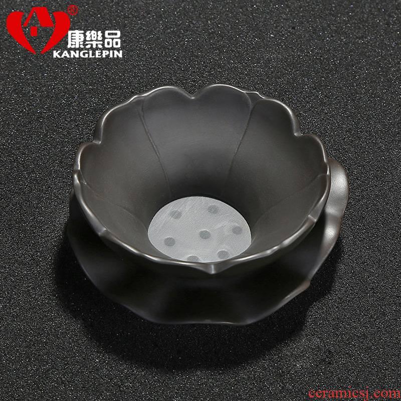Recreational product ore violet arenaceous) creative tea with parts filter net kung fu tea tea tea set accessories