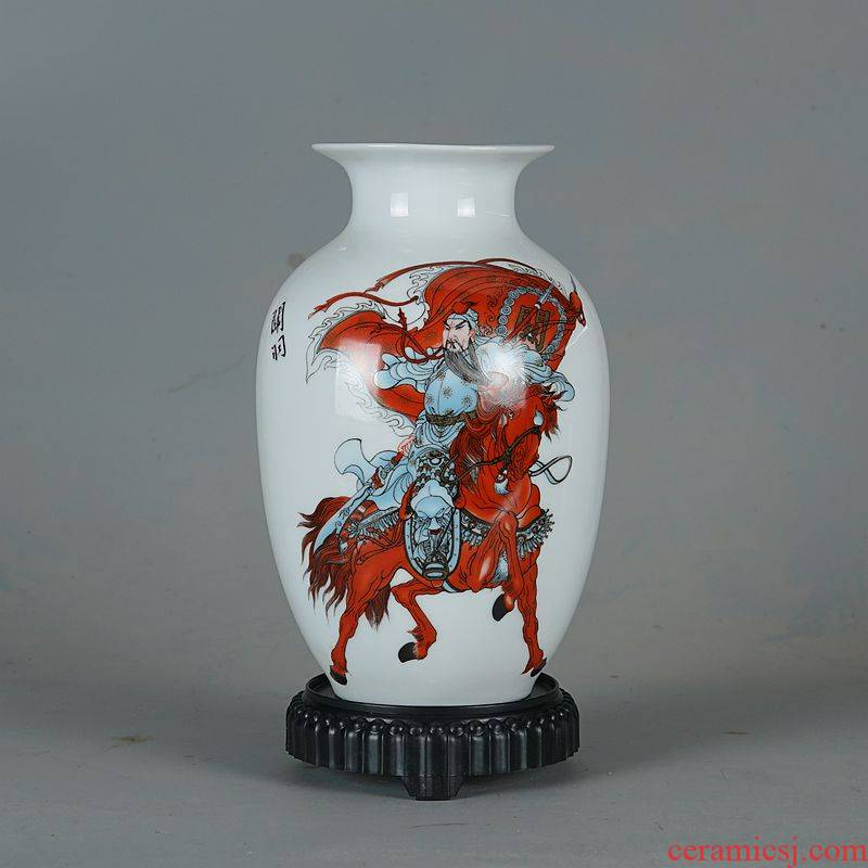 Iliad, jingdezhen ceramic vase furnishing articles flower arranging Chinese style living room TV ark, home decoration arts and crafts