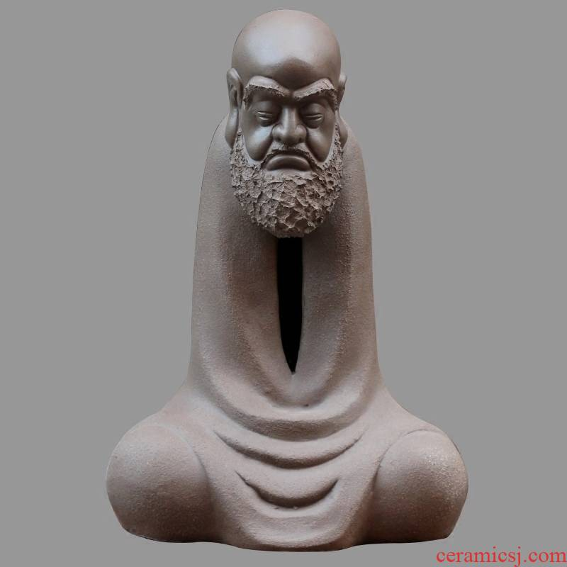 Dharma its furnishing articles large figure of Buddha of feng shui town house to mesa zen accessories frosted violet arenaceous furnishing articles