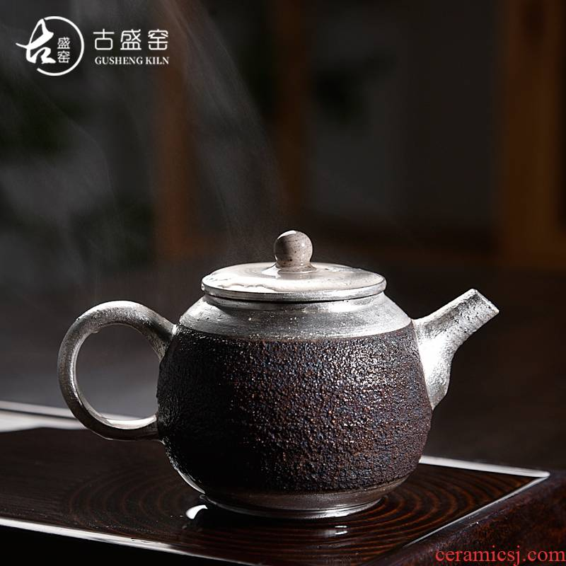 Ancient ice sheng up with jingdezhen ceramic checking pipes of black pottery teapot coppering. As silver restoring Ancient ways is kung fu tea teapot