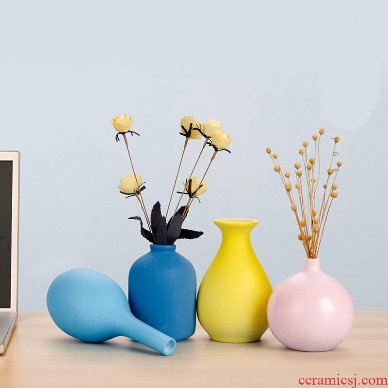 Floret bottle ceramics flower home mesa of I sitting room adornment is placed