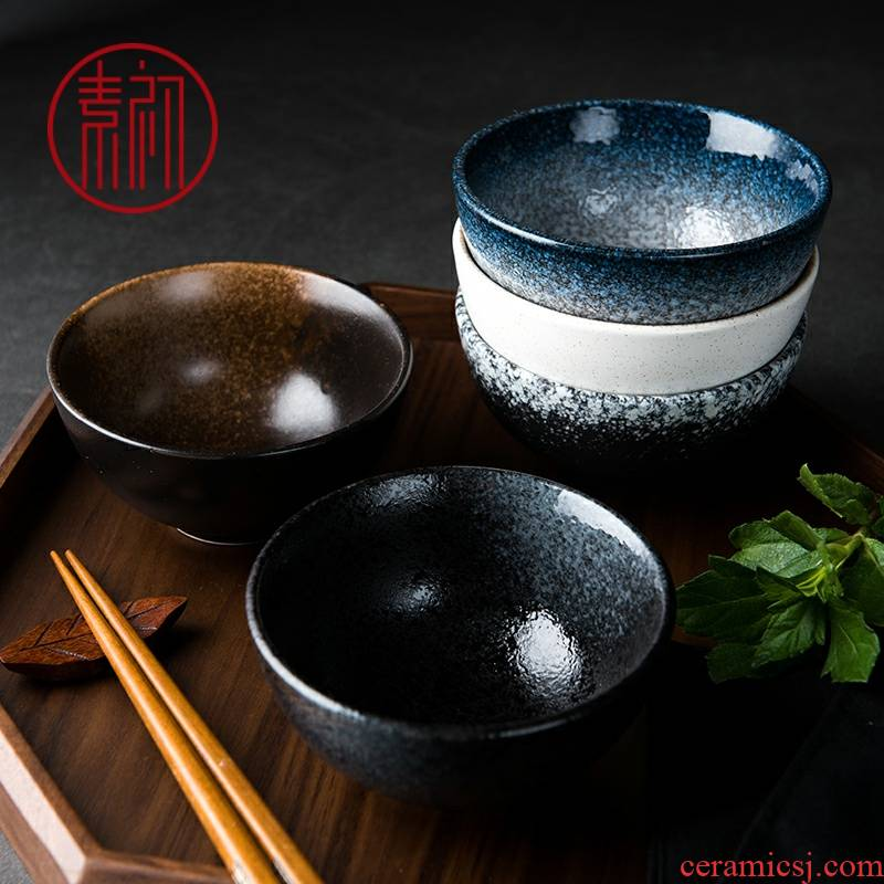 Use of household small Bowl of rice noodles soup Bowl to eat Japanese tableware suit for creative jobs the ceramic restoring ancient ways