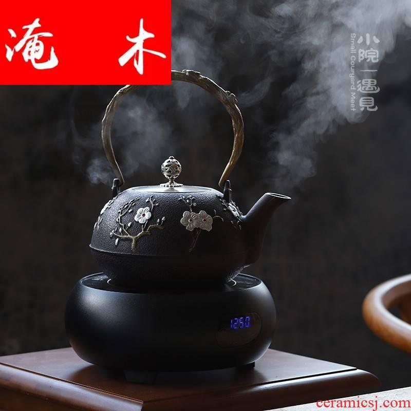 Submerged wood yard iron pot of cast iron tea kettle TaoLu boiled tea machine imitated Japanese tea stove cooking pot by hand