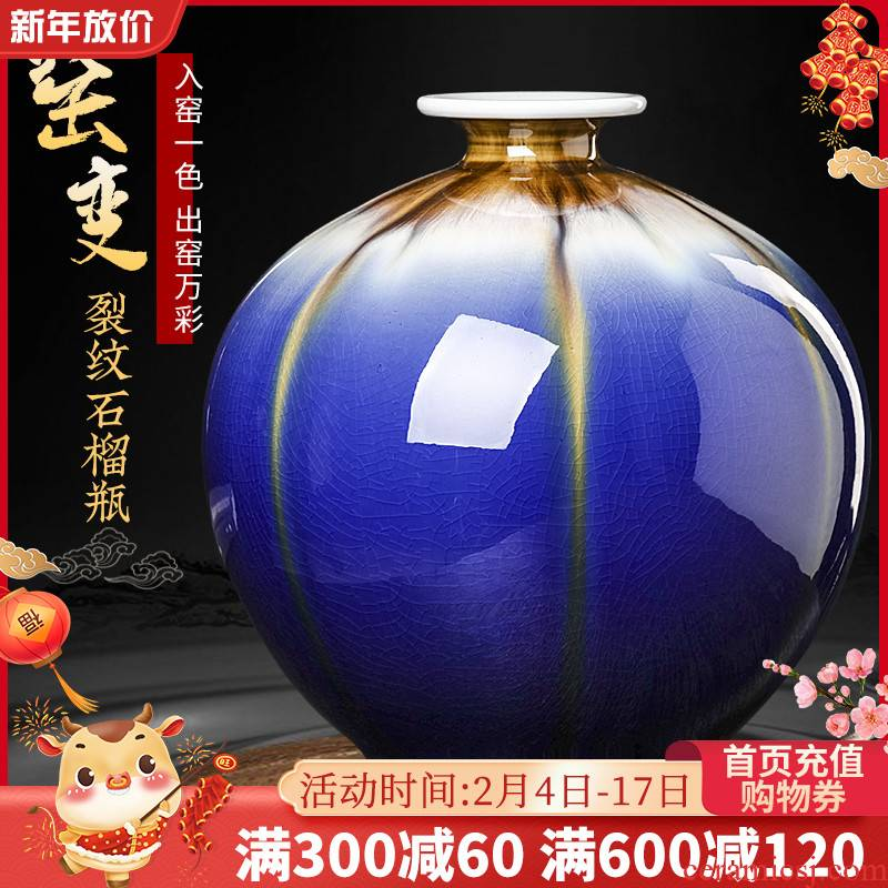 Archaize of jingdezhen ceramics new up crack vases, flower arranging Chinese style furnishing articles, the sitting room porch ark adornment
