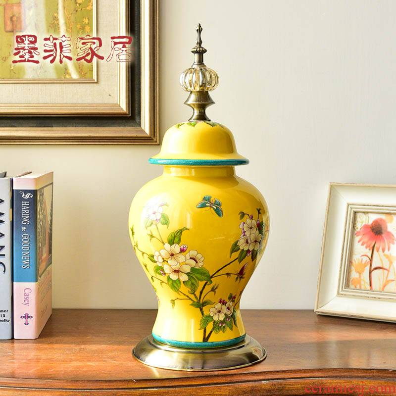 New Chinese style restoring ancient ways American light and decoration ceramics furnishing articles wine home TV ark of the sitting room porch decoration decoration process