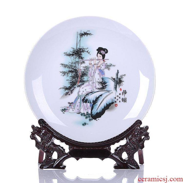 Jingdezhen ceramic decoration sat dish hang dish plate modern home act the role ofing handicraft furnishing articles gift flower