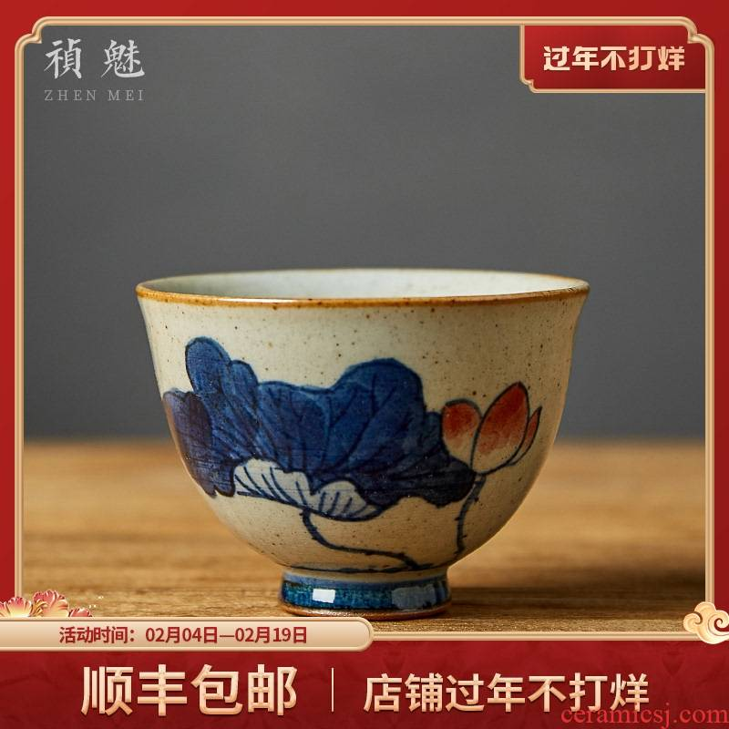 Shot incarnate the hand - made porcelain cups of jingdezhen ceramic kung fu tea set sample tea cup personal single master cup tea cups