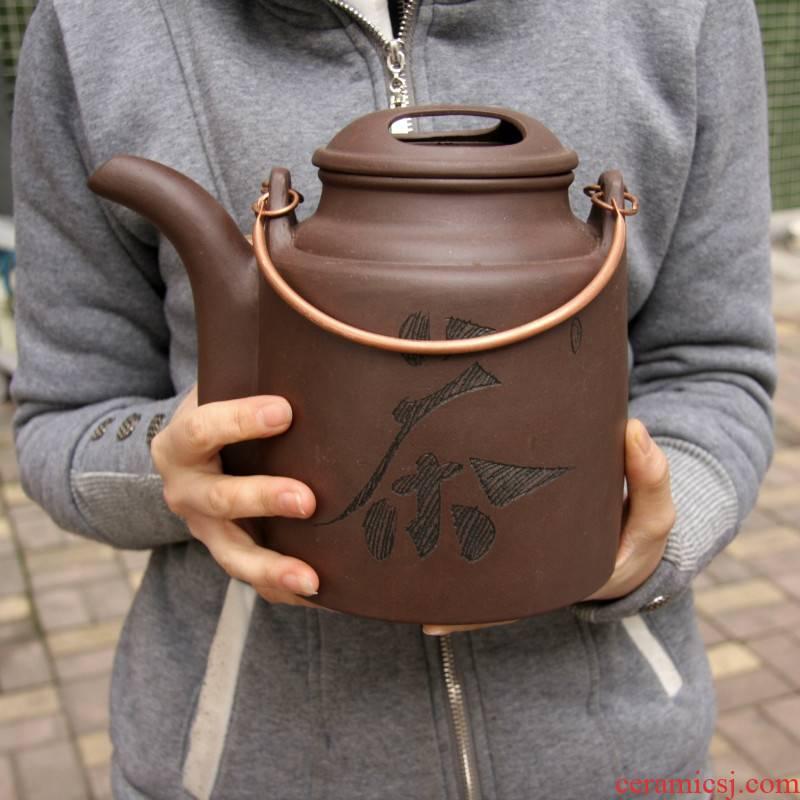 Authentic hand heavy ore purple sand teapot yixing it it girder pot