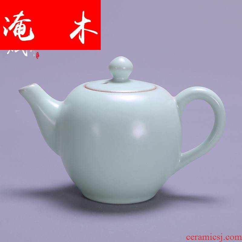 Submerged wood your up to open the slice single pot of your porcelain ceramic teapot kung fu tea set household large teapot tea filter device