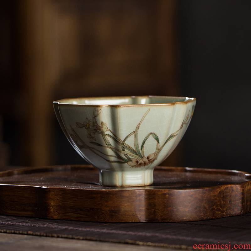 The Owl hand your up up with jingdezhen tea set on a line to kung fu masters cup hexagonal hat cup tea cups