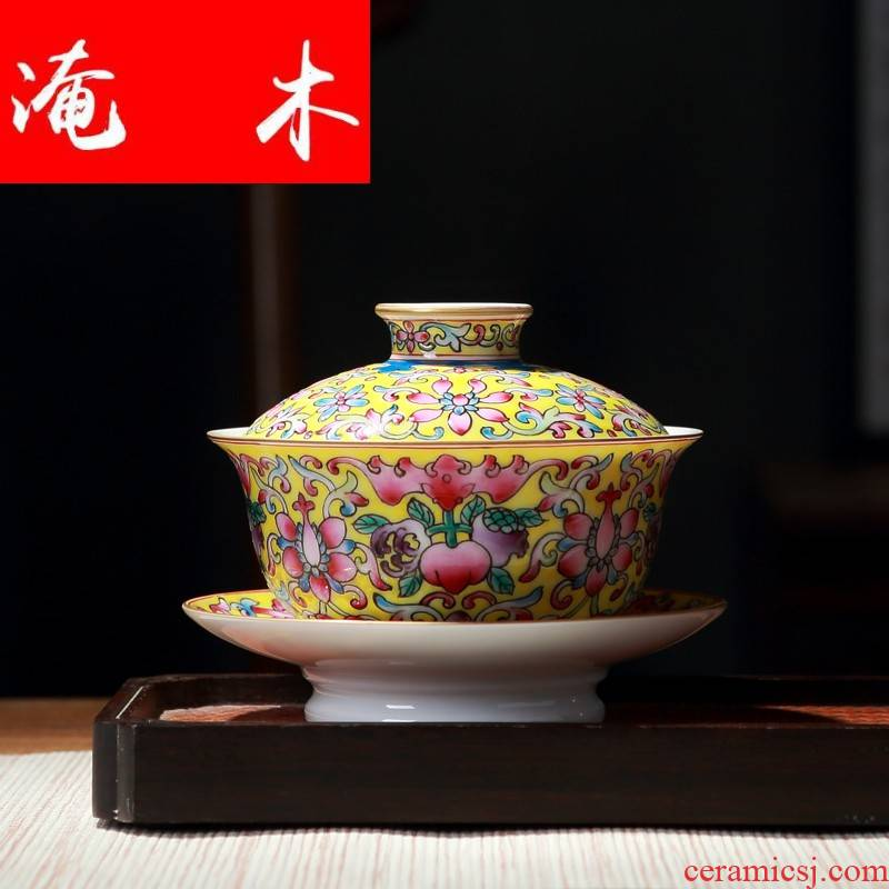 Submerged wood jingdezhen colored enamel tureen ceramic cups than spend three restoring ancient ways to see colour gift tea set tea bowl