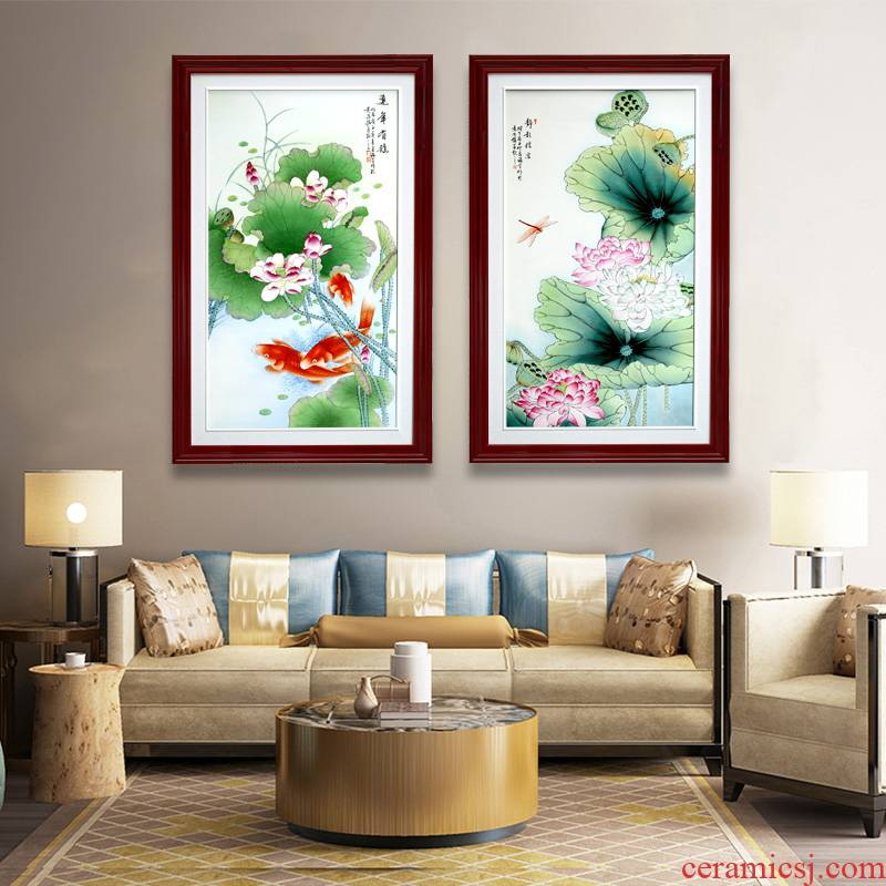 Jingdezhen ceramic hand - made years study background wall hang a picture adornment wining the sitting room porch corridor porcelain plate painting