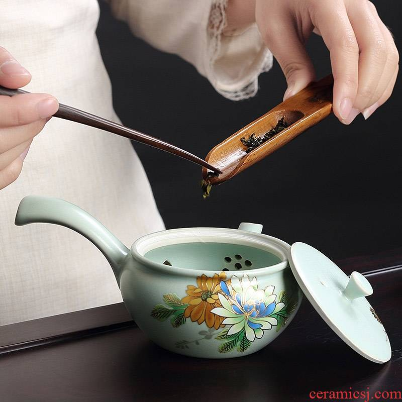 Qiao mu on your up side spend pot of stereo on kung fu tea set of a complete set of ceramic tea tea set gift boxes