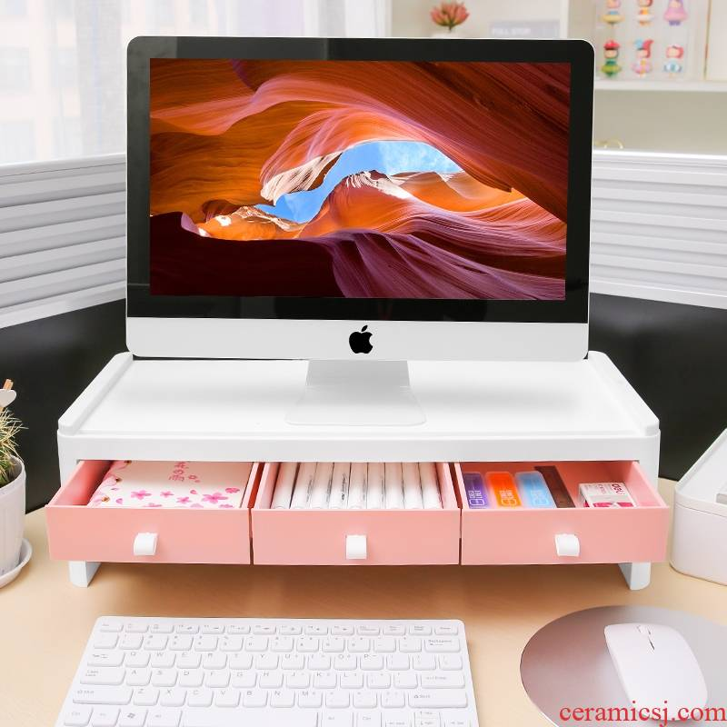 The Desktop with a neck guard increased wearing Desktop receive box office buy object rack drawer screen display base