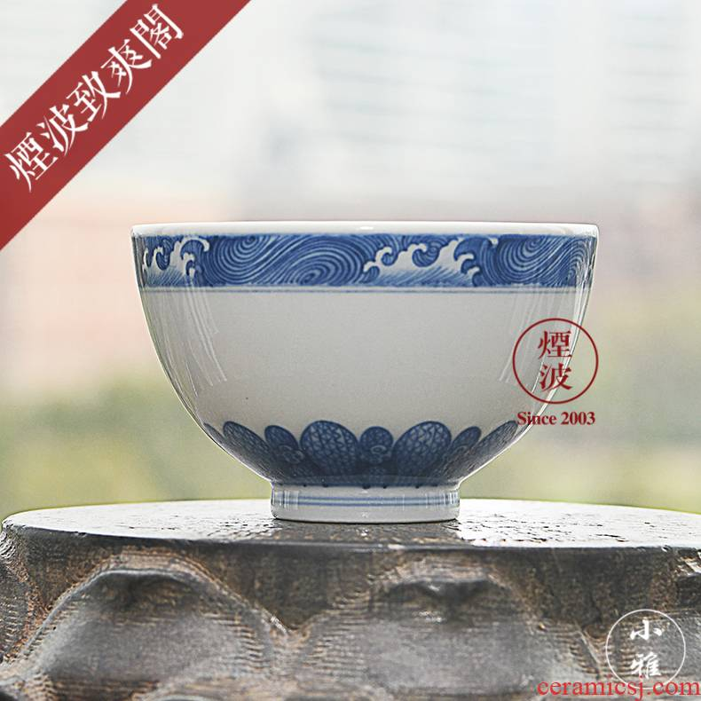 The smoke jingdezhen lesser RuanDingRong made lesser goodwill cup sample tea cup masters cup