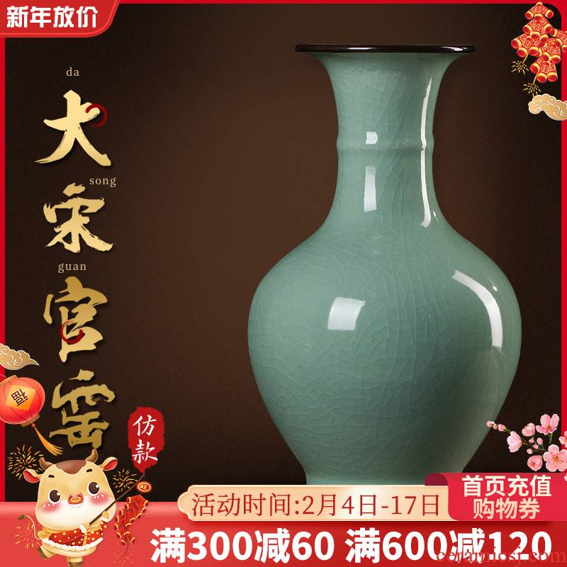 Jingdezhen ceramic vases, flower arranging archaize royal porcelain Chinese TV ark, place of the sitting room porch household act the role ofing is tasted