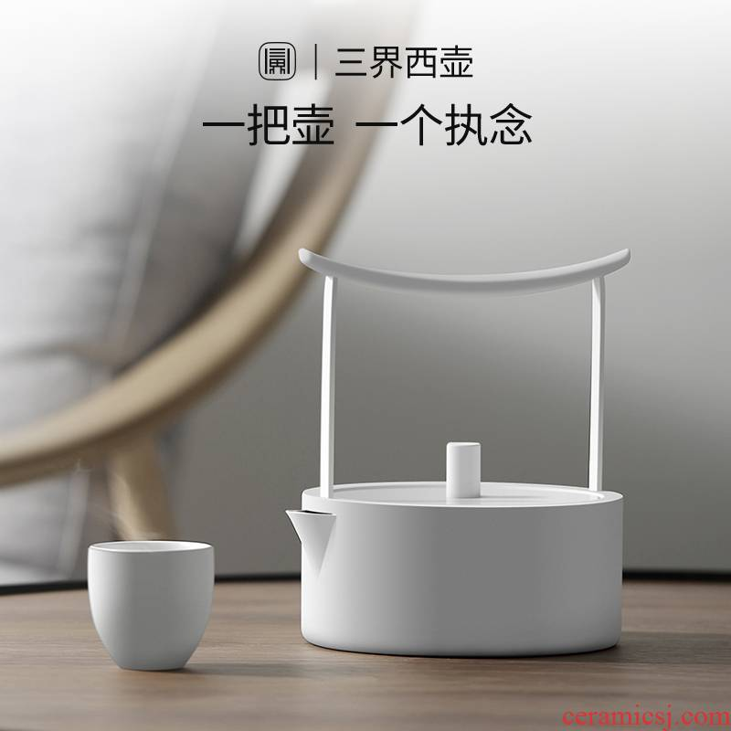 Blower, permeating the west pot stainless steel electric TaoLu teapot tea set household contracted kettle teapot cooking pot