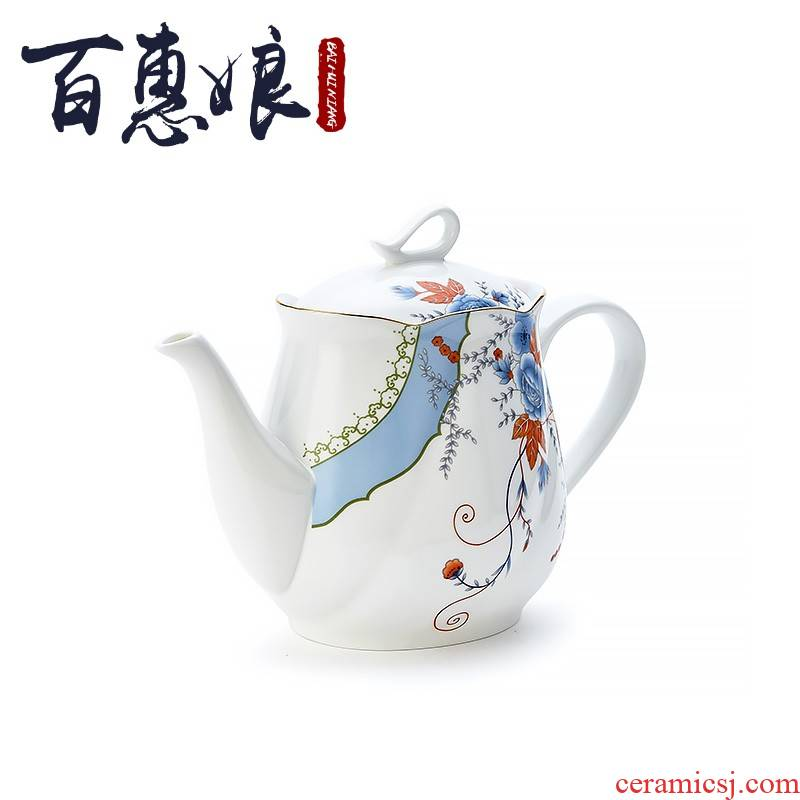 Ceramic coffee set (15 head porcelain rhyme flower niang suit household gift box set