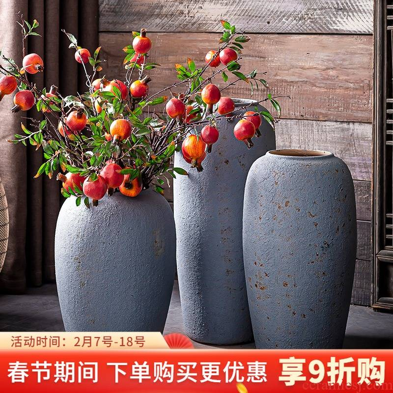 I and contracted grey ceramic club hotel furnishing articles sitting room window of large vase flower arranging flower POTS