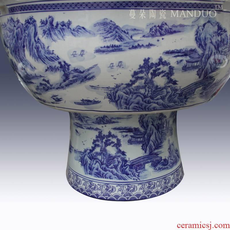 Promoting environmental ceramic porcelain VAT high raise fish a goldfish bowl lotus pond lily ceramic porcelain crock