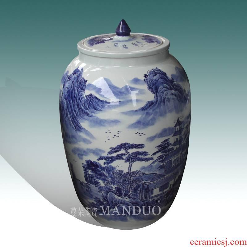 Pu 'er tea cake cover, the seventh, peulthai the high - grade ceramic art cover pot elegant and practical cover pot jingdezhen cover tank