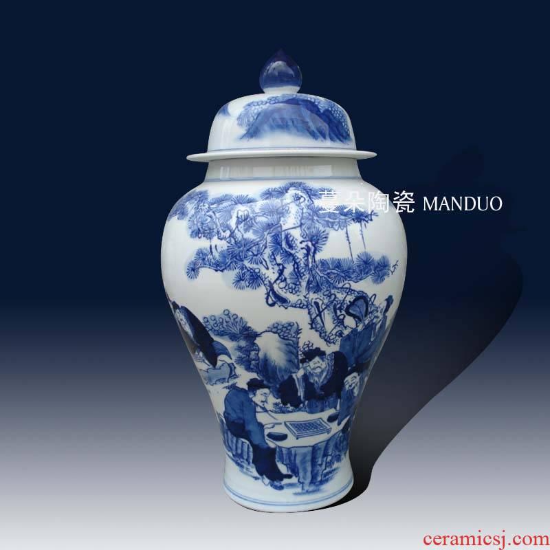 Jingdezhen porcelain the general character of classical porcelain pot landscape classical personage general porcelain pot