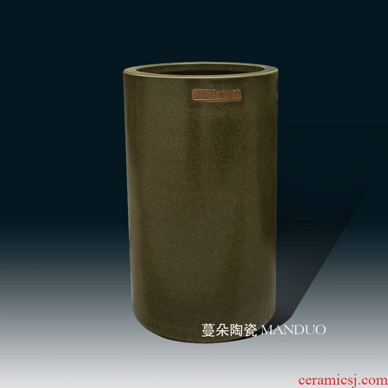 Jingdezhen quiver at the end of the upscale tea vase painting and calligraphy scrolls quiver vase of primitive simplicity of classical straight bottle