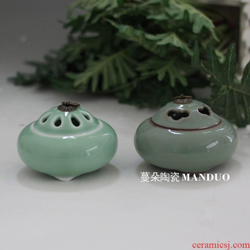 Elder brother up start censer scented shadow green fragrance classical ancient celadon porcelain present fragrant smoked