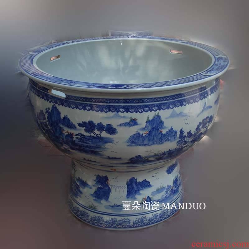 Hand - made scenery China VAT 96 cm diameter China high heavy tank yard porcelain crock