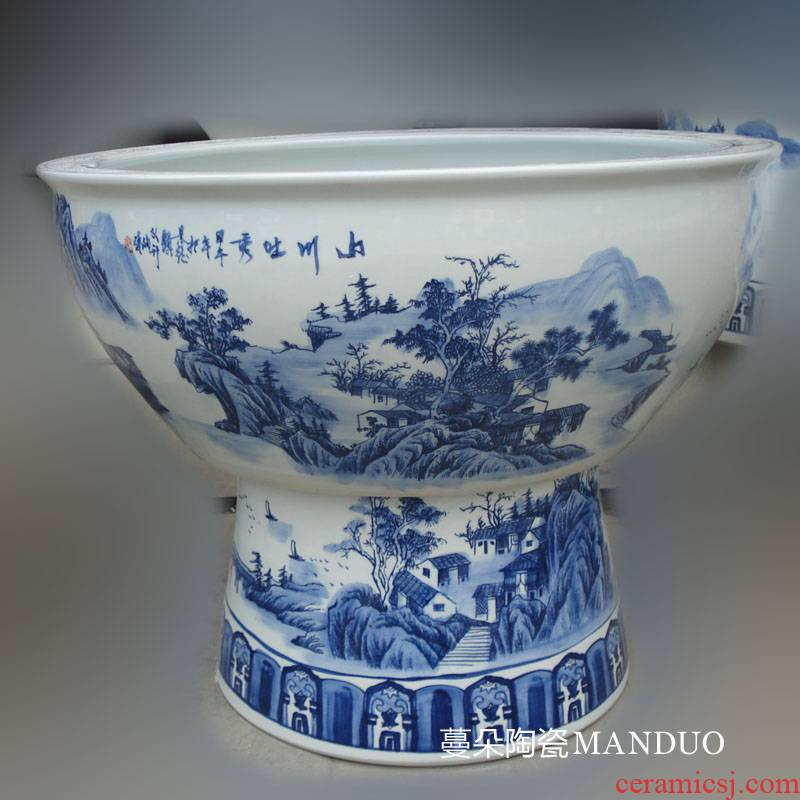 Jingdezhen porcelain and high China aquarium with China foot aquariums diameter of 70-100 cm