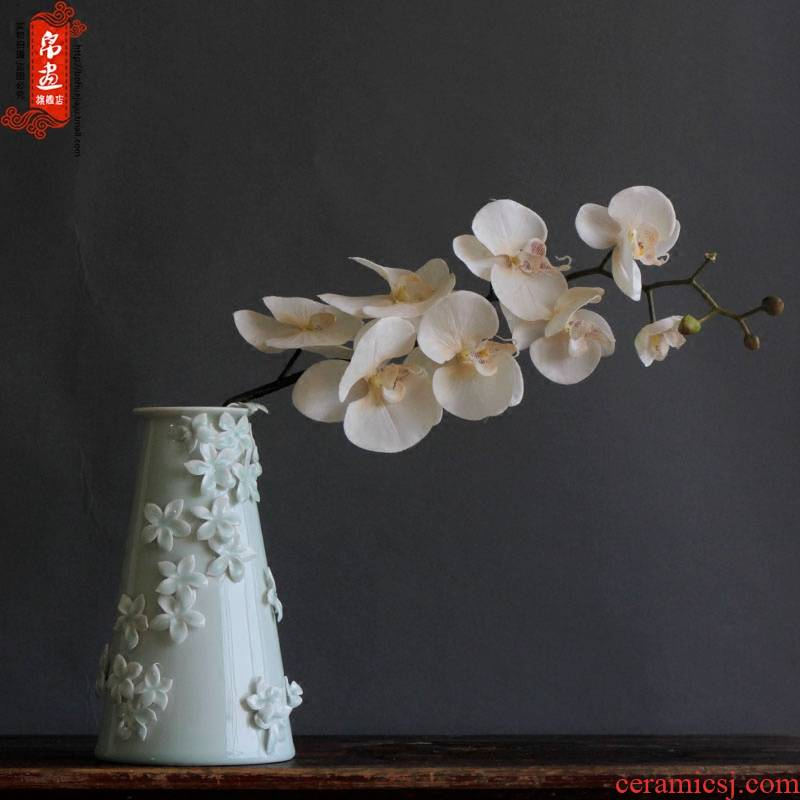 Jingdezhen ceramics decoration decoration shadow celadon flower Chinese style living room furnishing articles furnishing articles between household adornment porcelain