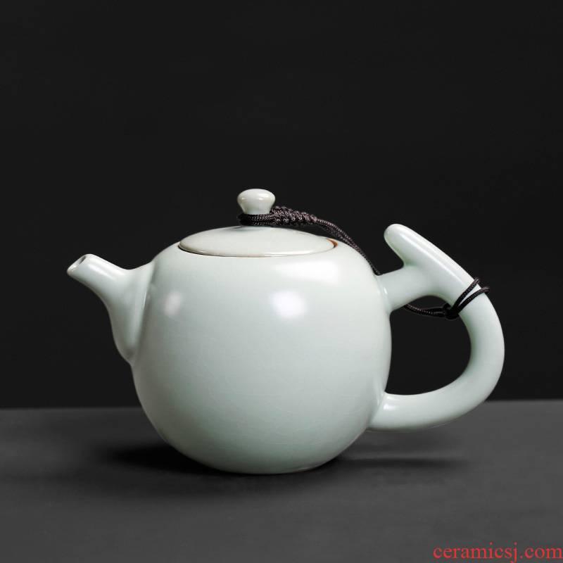 Ceramic teapot your up round pot of your porcelain teapot small single pot of filtering cordless springs, celadon kung fu tea set