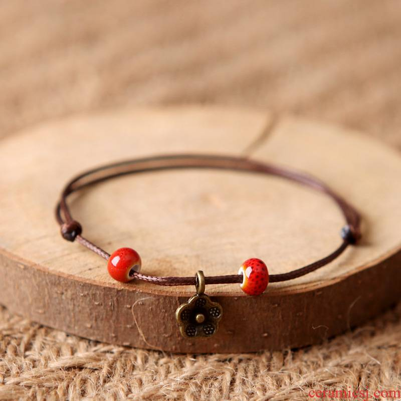 Green GeSen series ceramic bracelet literary small pure and fresh and the original ceramic checking the original accessories stall wind restoring ancient ways the supply of goods