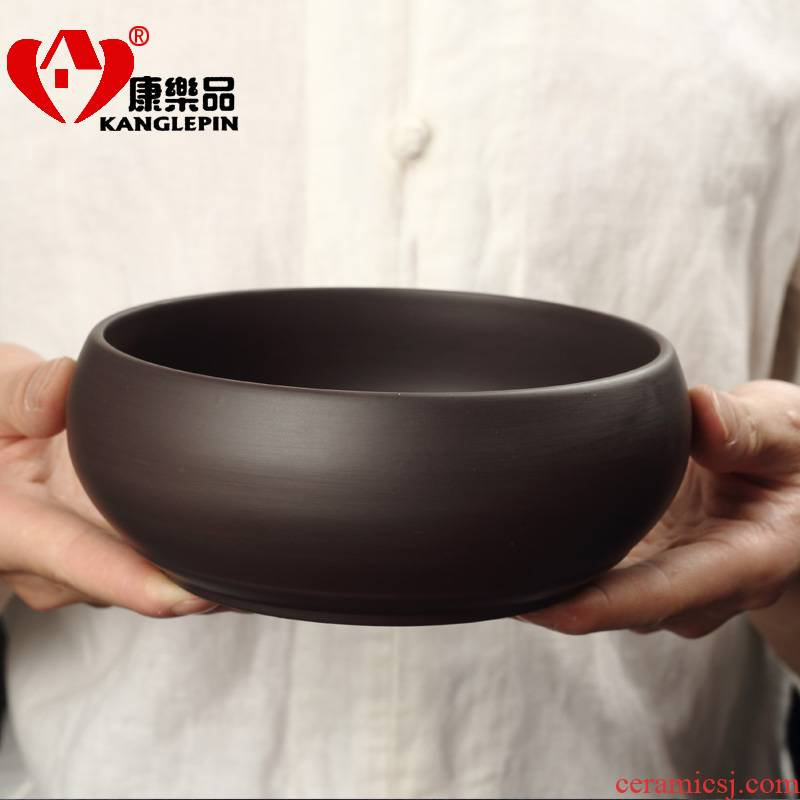 Recreation beautiful yixing purple sand tea wash large cup for wash bowl tea cups set fittings of kung fu