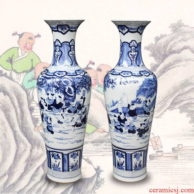 Jingdezhen ceramics hand - made porcelain lad of large vases, furnishing articles of modern Chinese style living room opening gifts
