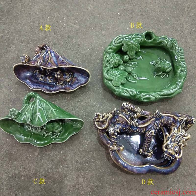 Jingdezhen porcelain frog writing brush washer art culture appeal bionic writing brush washer from four treasures appliance place ashtray