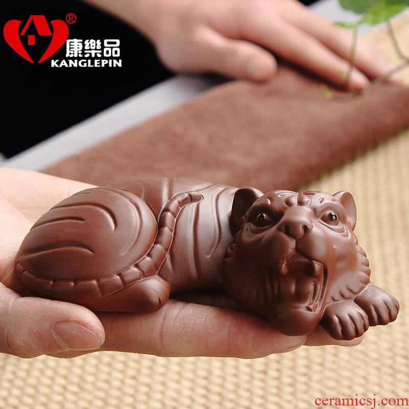 Recreational tea pet furnishing articles can keep purple sand tea from playing Chinese zodiac process cattle kung fu tea set suits for the whole family