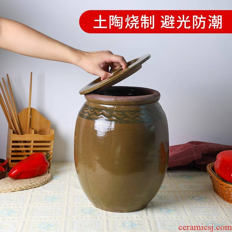 Bacon earthen POTS pickling ceramic pot home thickening cylinder barrel food places as the soil POTS