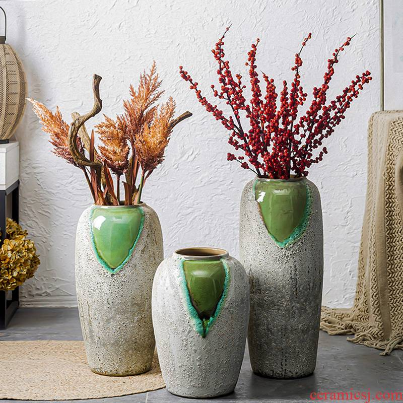 I and contracted ceramic big vase furnishing articles sitting room European - style landing new Chinese vases, flower POTS flowerpot
