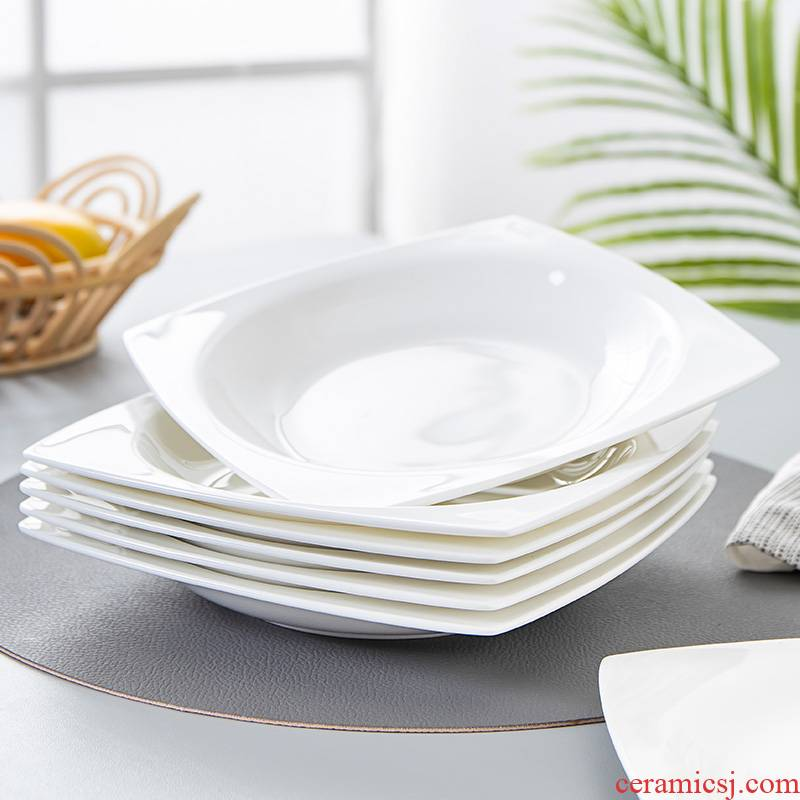 Jingdezhen ipads China and western food and tableware Japanese - style square plate cake plate are rectangular plates plate ceramic 0