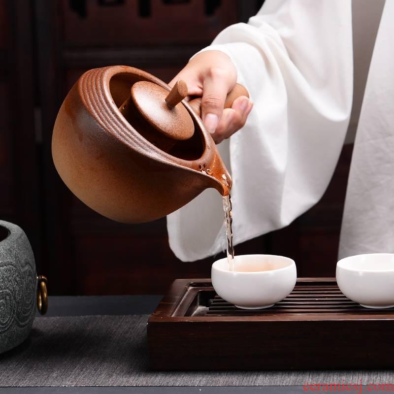 Qiao mu natural new glass pot stone household mini small bluestone boiled tea machine electric TaoLu tea stove kung fu