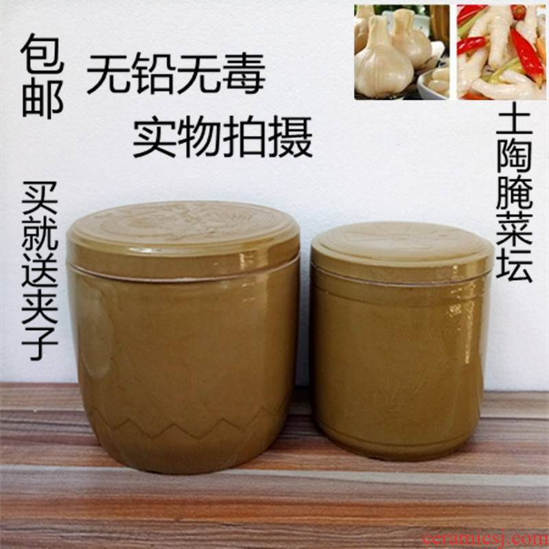 Scene satisfied ceramic kimchi household earthenware pickles pickles jar jar of thickening pickles pickled egg jar jar