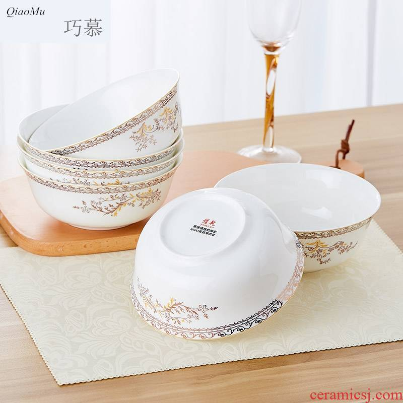 Qiao mu ipads porcelain of jingdezhen ceramics cutlery set to use 6 inch mercifully rainbow such use large rice bowls large soup bowl