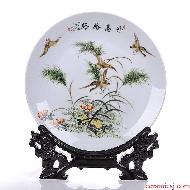 Jingdezhen ceramics lulu to hang dish decorative plate household adornment handicraft gifts furnishing articles